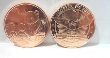 1 oz. 2012 Panda Bear .999 Fine Copper Bullion Art Coin Round Free Shipping