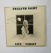 TWELFTH NIGHT  -   LIVE AT THE TARGET   -    LP       UK  1981    rock progr