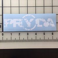 """Eric Prydz Pryda 6"""" Wide White Vinyl Decal Sticker - BOGO"""