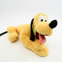 "Disney Parks Pluto Dog Disneyland Resort Plush Stuffed 14"" long"