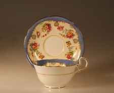 Aynsley Blue Floral Cup and Saucer, England