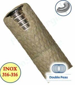 Tubage TEN Liss Pré-isolé ép. 3cm - Double Peau - Inox 316L Int - Inox 316L Ext.