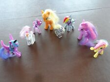 My Little Pony Lot of 8 Applejack Lucky Clover Luna Light Heart Twilight Sparkle