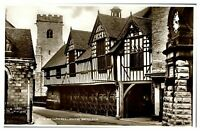 Antique RPPC real photograph postcard The Guildhall Much Wenlock