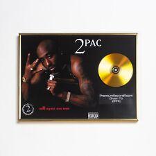 Tupac Poster, All Eyez On Me GOLD/PLATINIUM CD, gerahmtes Poster HipHop Rap Wall
