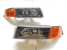 1998-01 Mitsubishi Lancer Evo 5 6 Chrome/Black Headlight & Amber Corner light