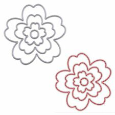 4Pcs/Set Metal Flower Cutting Dies Stencil For DIY Scrapbooking Paper Card Decor
