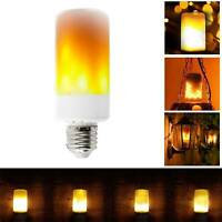 2-PACK LED Flame Effect Fire Light Bulb E27 Flickering Lamp Simulated Decorative