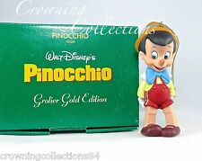 Grolier Disney Pinocchio Gold Edition Ornament Porcelain Christmas Gift MIB RARE