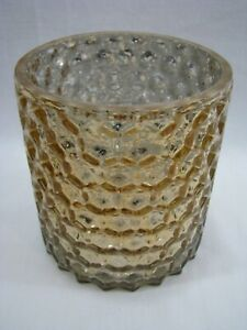 Threshold Gold Mercury Glass Hurricane Candle Holder Target Home Decor