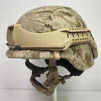 Tan Boltless Helmet Rail NVG Mount System Fits USMC ARMY LWH MICH ACH ECH PASGT