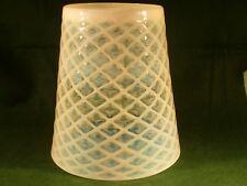 Antique Art Nouveau Vaseline Glass Light Shade Conical for Lantern / Oil Lamp