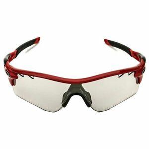 Oakley Radarlock Path 9181-09 Sunglasses Red Frame Clear Photochromatic Lens
