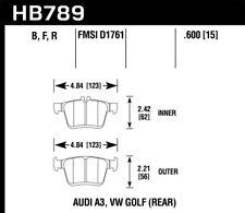Hawk for 15-17 Audi A3/A3 Quattro HPS 5.0 Rear Brake Pads - hawkHB789B.600