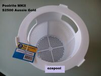 POOLRITE MKII S2500 SKIMMER BASKET - AUSSIE GOLD SWIMMING POOL, Secure postage