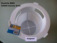 POOLRITE MKII S2500 SKIMMER BASKET - AUSSIE GOLD SWIMMING POOL, Secure postage