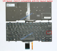 New for DELL Latitude E5250 E5270 E7250 E7270 series laptop US Keyboard Backlit