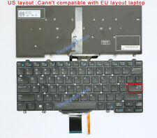 New for DELL E5250 E7250 laptop Keyboard Backlit MP-13P23USJ698 PK1313O2B00