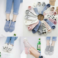 1 Pair Kawaii Women Girls Cute Animal Cartoon Cat Printed Casual Low Cut Socks