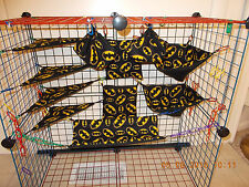 BATMAN BLACK   Sugar Glider 11 pc cage set