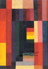 Kunst- Doppelkarte  - BAUHAUS  - Johannes Itten:  Horizontal - Vertikal