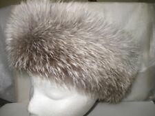 NEW FUR FOX Headband  INDIGO CRYSTAL Color made of the finest soft Skins