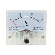 85L1 AC 0-30V Rectangle Analog Volt Panel Meter Gauge 85L1-V Class 2.5 1 pcs