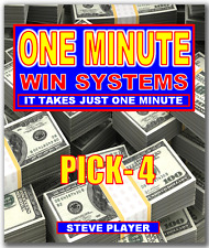 Steve Player's One Minute Win Pick-4 Lottery System