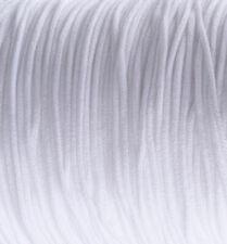 Lot de 25 mètres de fil Blanc 2mm cordon élastique stretch nylon mercerie *C247