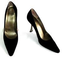CHARLES JOURDAN Escarpins talons 9.5 cm cuir daim noir 7.5 38 EXCELLENT ETAT