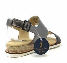 JBU By Jambu Womens Myrtle Low Wedge Slingback Sandal Charcoal Grey Size 6.5 M