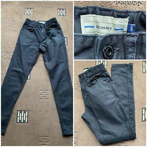 "next skinny black jeans elasticated waist band size 28"" inside leg 30"" (49)"