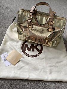 Michael Kors Gold Grayson Barrel Bag