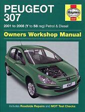 Haynes Service & Repair Manual Peugeot 307 Petrol & Diesel 2001 - 2008 4147