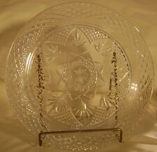 "10.25""  Vintage Cristal D'Arques Durand ANTIQUE Pressed Glass Dinner Plates"