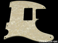 *NEW Aged Pearloid HUMBUCKER Telecaster PICKGUARD for USA Fender Tele 5Hole 3Ply