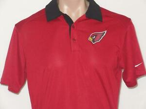 Arizona Cardinals M Nike OnField Team Issued Dri Fit Coaches Polo Shirt Jersey