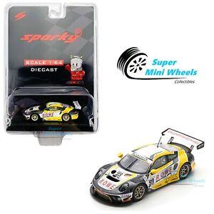 Sparky 1:64 Porsche 911 GT3 R No.99 ROWE Racing 2nd FIA GT World Cup Macau 2019