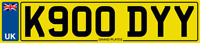 NUMBER PLATE KODIE PRIVATE CAR REGISTRATION K900 DYY NO ADDED FEES CODY KODY