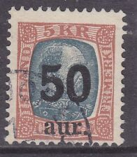 Iceland sc#138 1925 50a surcharge used - '12 scv$62.50 - b21201