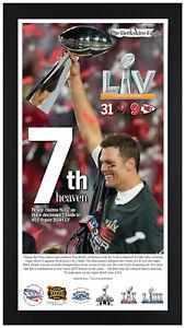 Tampa Bay Bucaneers Super Bowl 55 LV Framed Newspaper Print Framed Feb 8, 2021!