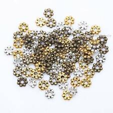 Wholesale Lot 100-1000Pcs Tibetan Silver Daisy Spacer Beads Charm Findings 4/6mm