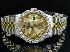 Rolex Datejust 2 Tone 18k Gold 36MM Stainless Steel Jubilee Diamond Watch 5.6 Ct