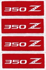 NISSAN 350Z EMBROIDERED SEW/IRON ON PATCH EMBLEM BADGE 370z WHITE RED
