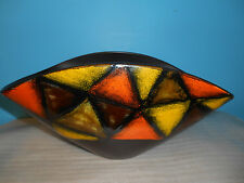 Orange, Yellow & Brown Fruit Bowl - Signed Tia-4 944'A