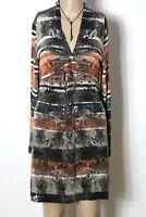 GERRY WEBER Kleid Gr. 38-40 schwarz-beige-orange kurz/mini Muster Strick Kleid