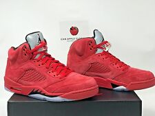 Nike Air Jordan 5 Retro Red Suede Size 11.5 Dead Stock