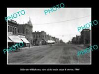 OLD LARGE HISTORIC PHOTO OF STILLWATER OKLAHOMA, THE MAIN ST & STORES c1900