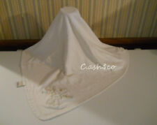Absorba Home Grown Baby cream colored baby blanket appliqued bunny 2 ply rare