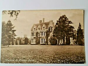 Oxford St Hilda's South College Printed Postcard F. Frith